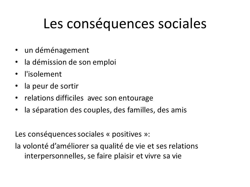 Les conséquences sociales