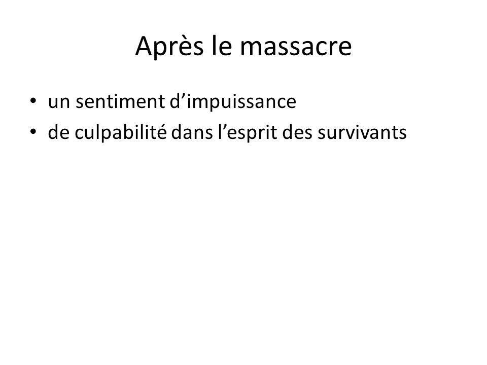 Après le massacre un sentiment d'impuissance
