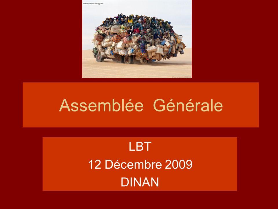 Assemblée Générale LBT 12 Décembre 2009 DINAN