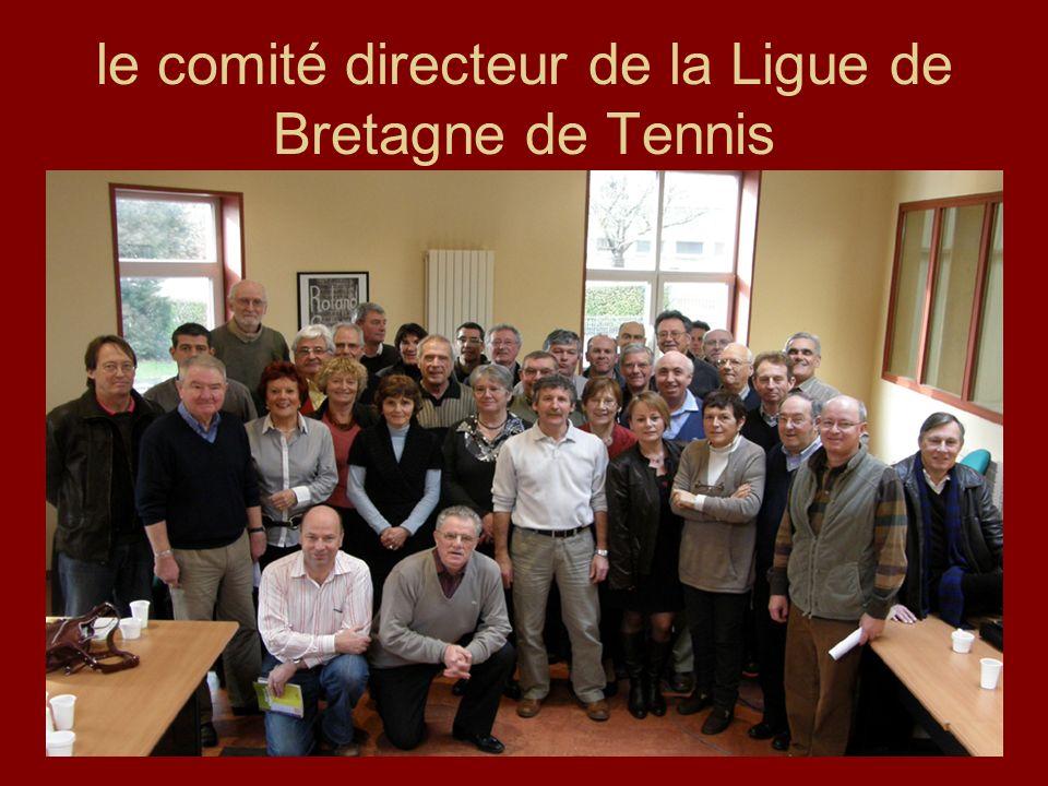 le comité directeur de la Ligue de Bretagne de Tennis