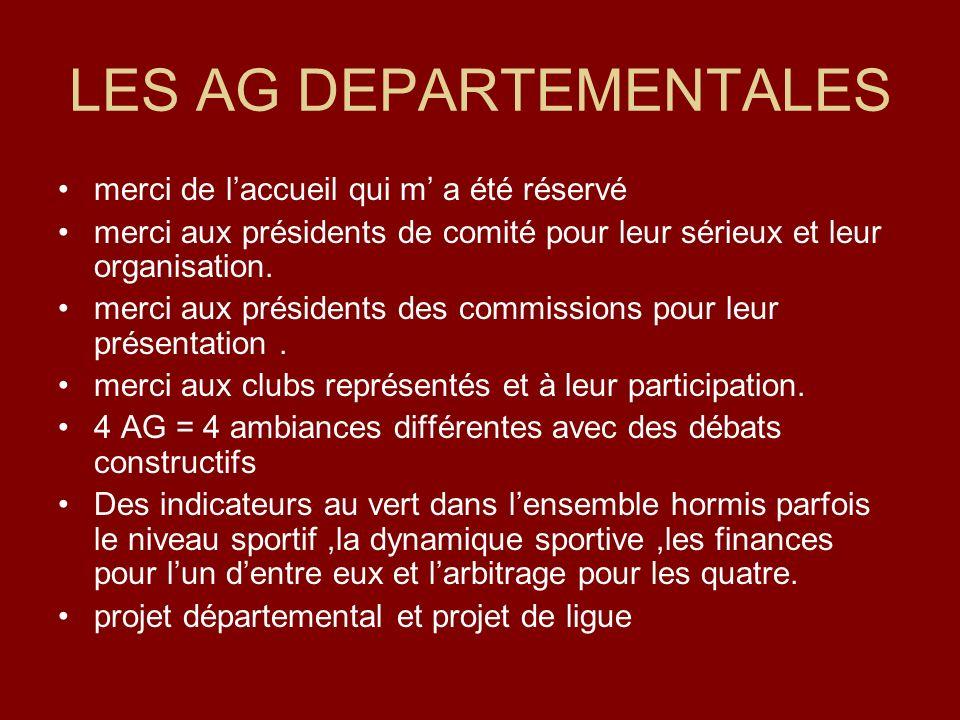 LES AG DEPARTEMENTALES