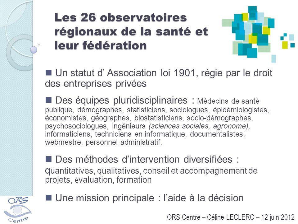 Les 26 observatoires régionaux de la santé et leur fédération