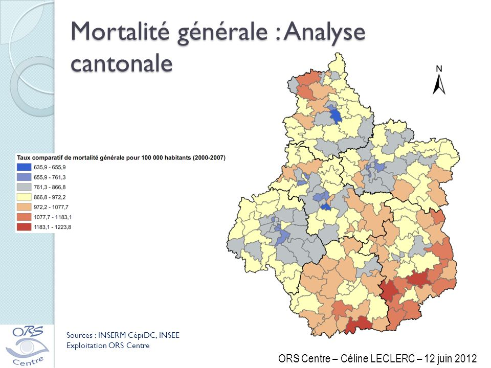 Mortalité générale : Analyse cantonale