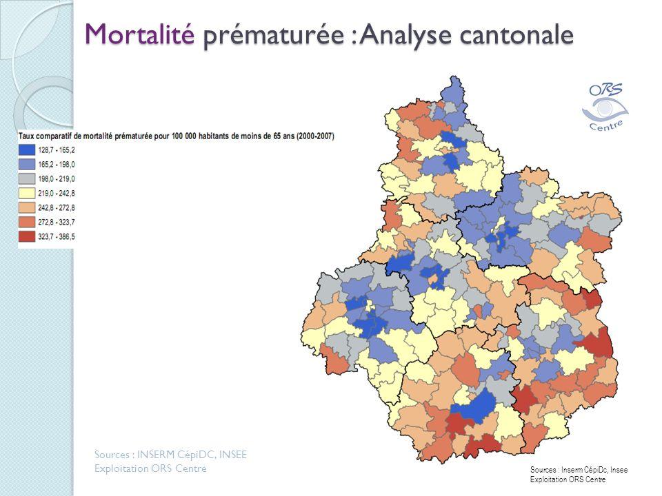 Mortalité prématurée : Analyse cantonale