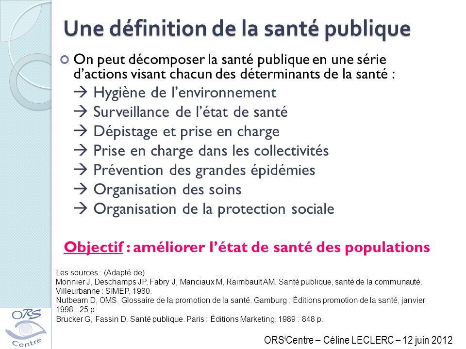 Une définition de la santé publique