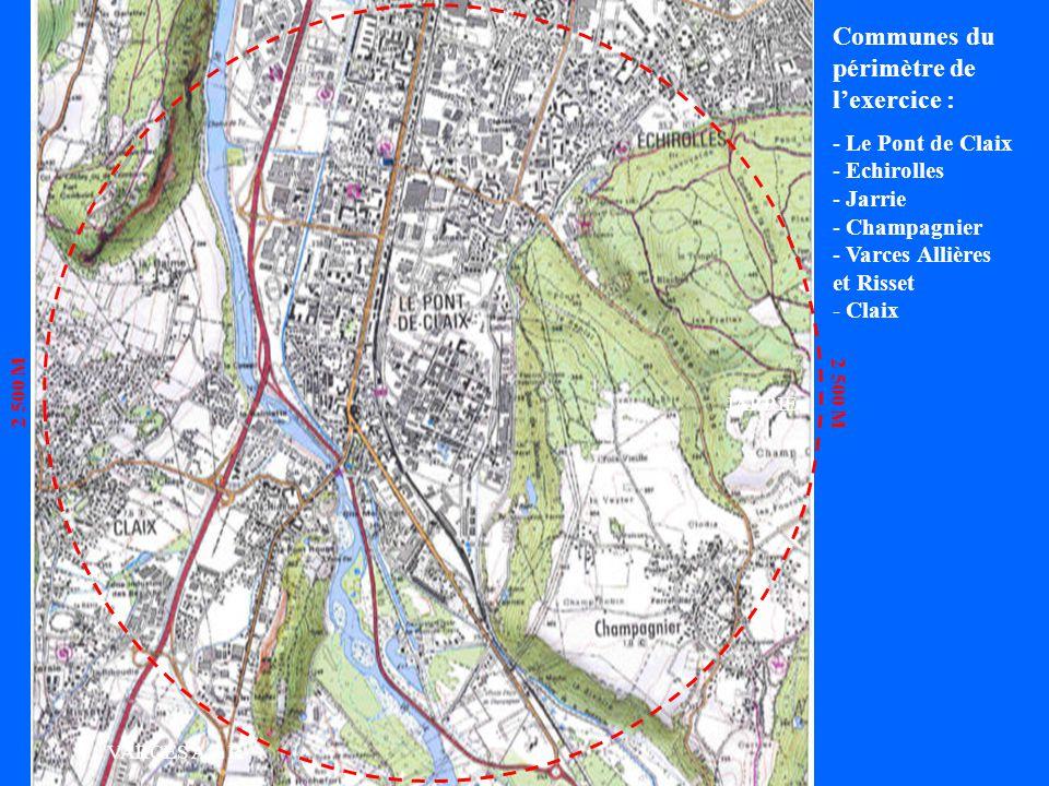 Communes du périmètre de l'exercice : Le Pont de Claix Echirolles