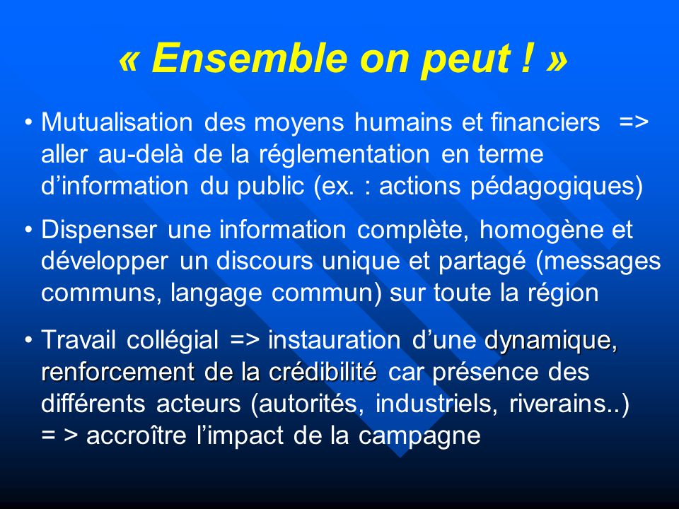 « Ensemble on peut ! »