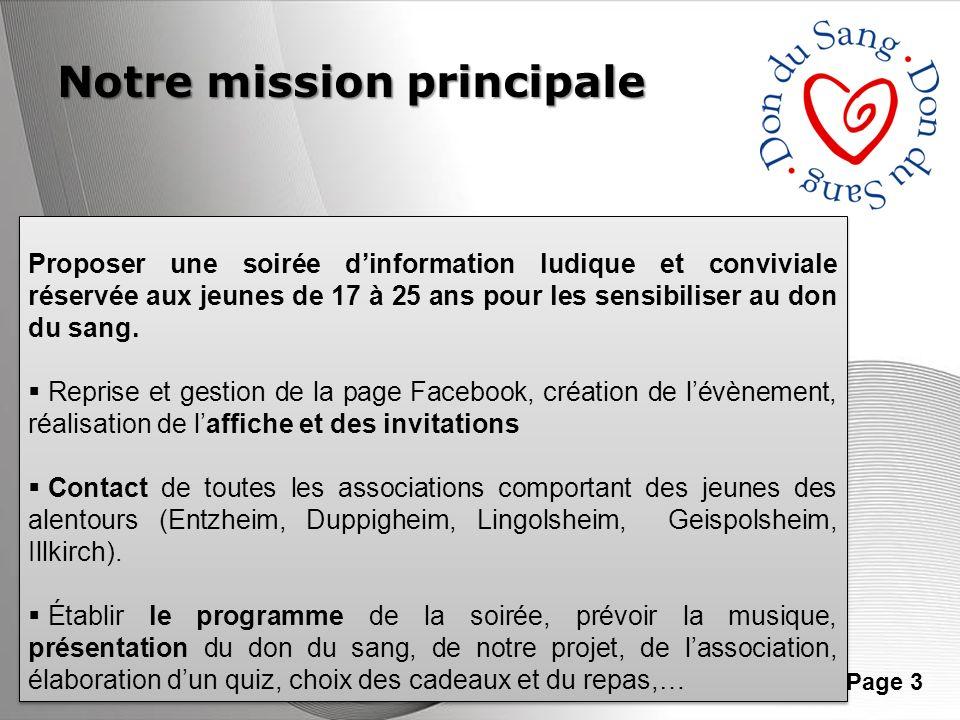 Notre mission principale