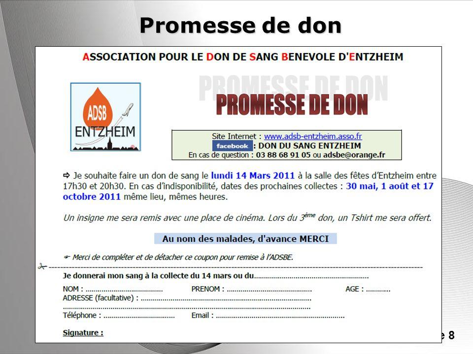 Promesse de don
