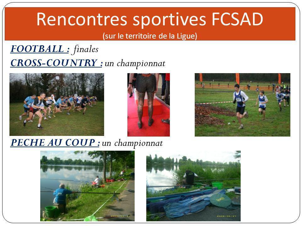 Rencontres sportives FCSAD Direc teur 5 réunions