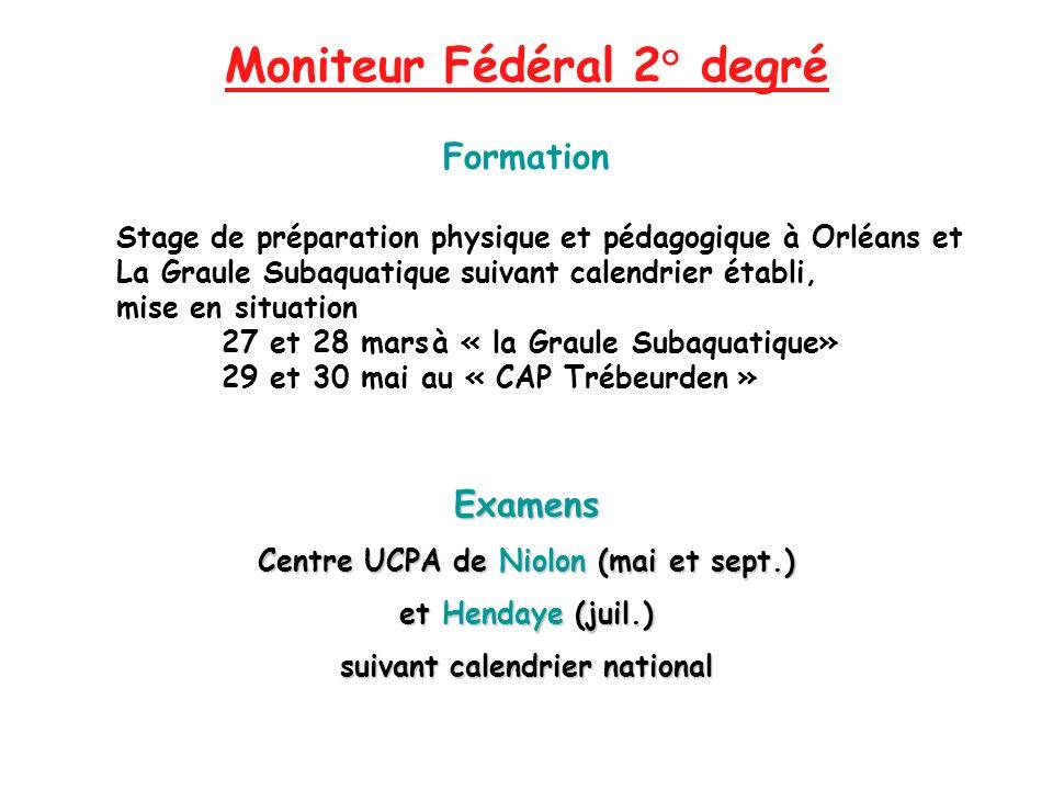 Moniteur Fédéral 2° degré