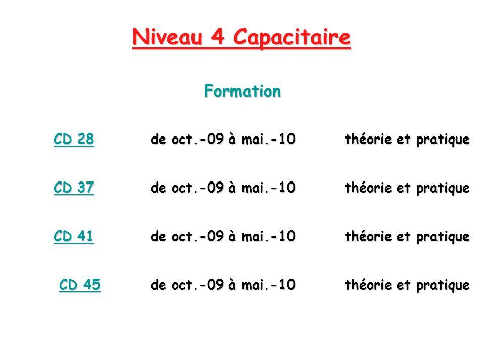 Niveau 4 Capacitaire Formation