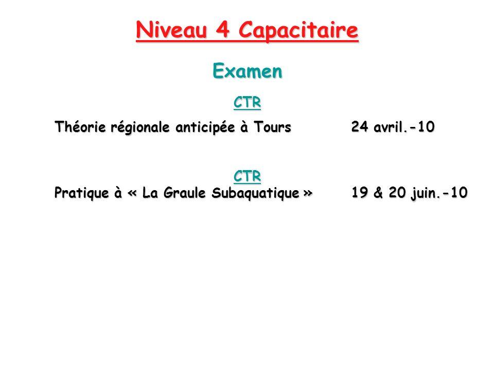 Niveau 4 Capacitaire Examen CTR