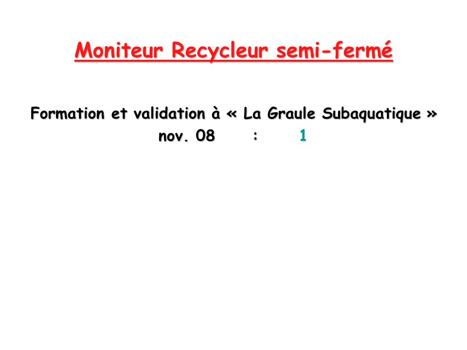 Moniteur Recycleur semi-fermé