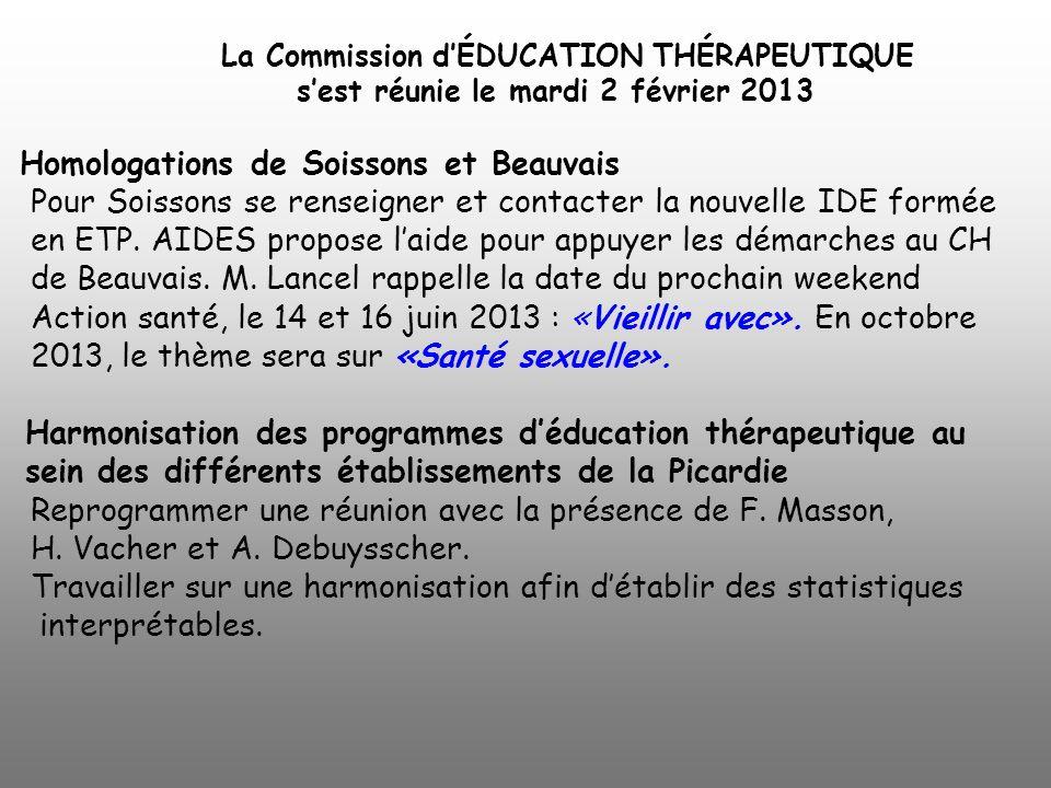 La Commission d'ÉDUCATION THÉRAPEUTIQUE