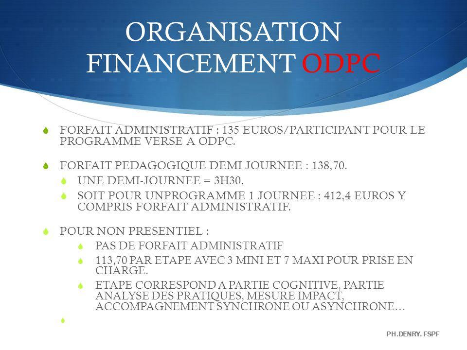 ORGANISATION FINANCEMENT ODPC