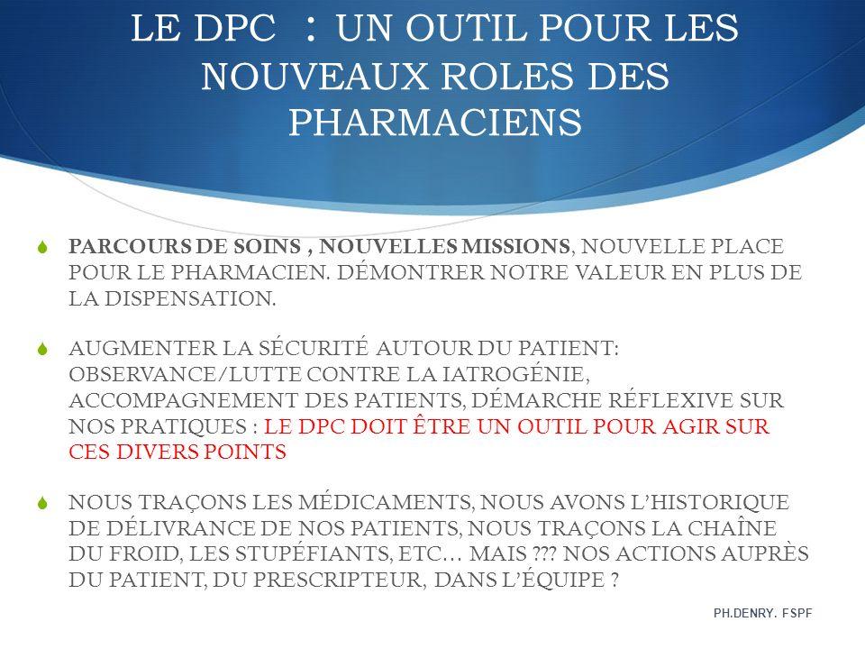 LE DPC : UN OUTIL POUR LES NOUVEAUX ROLES DES PHARMACIENS
