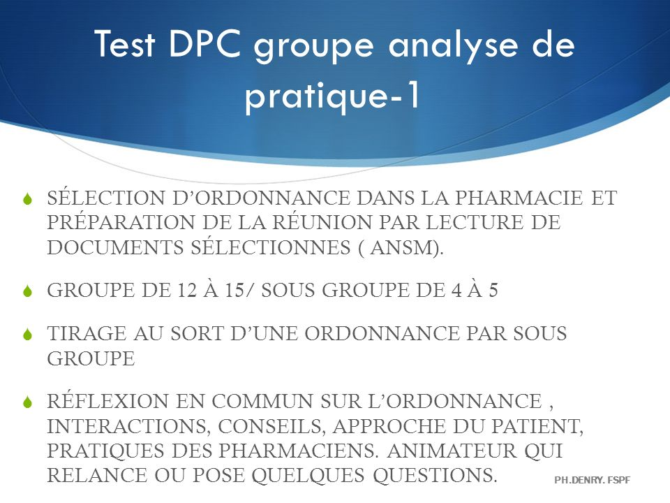 Test DPC groupe analyse de pratique-1