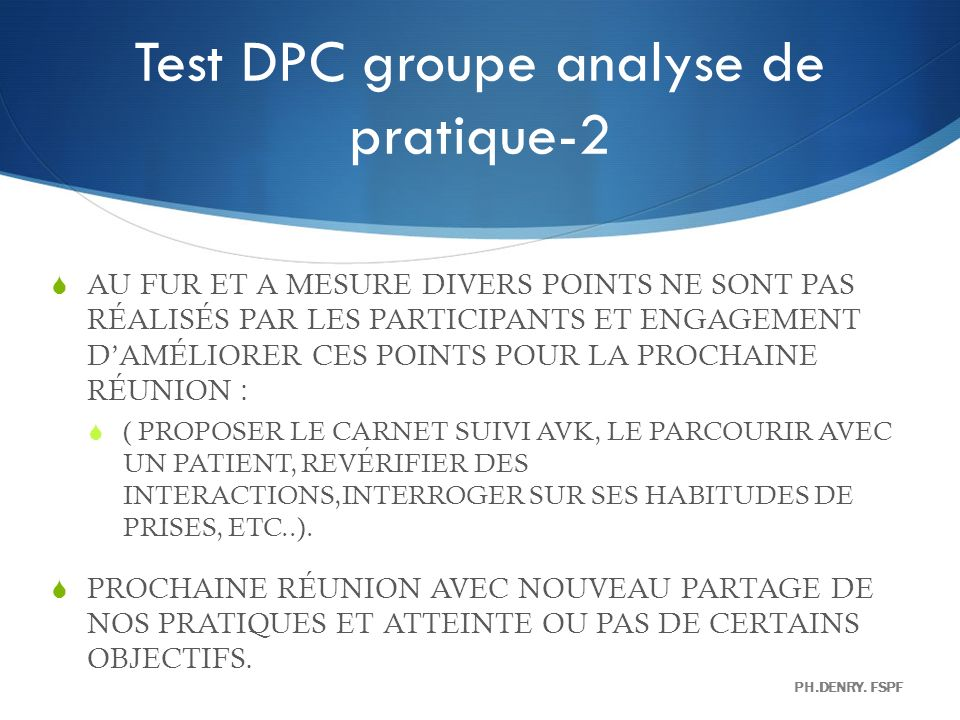 Test DPC groupe analyse de pratique-2