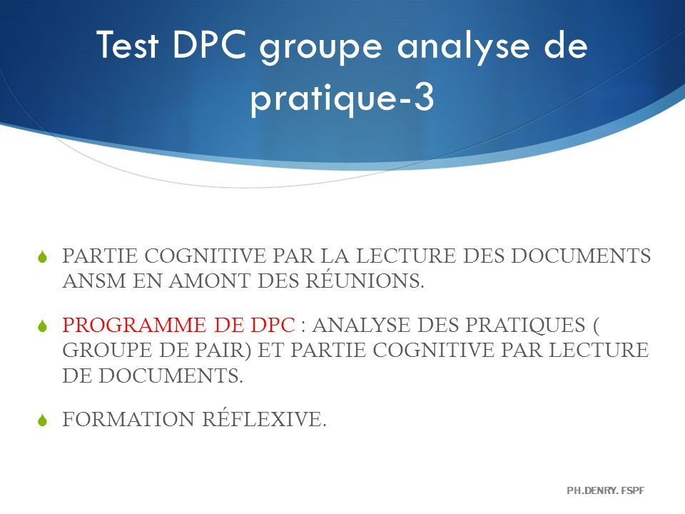 Test DPC groupe analyse de pratique-3