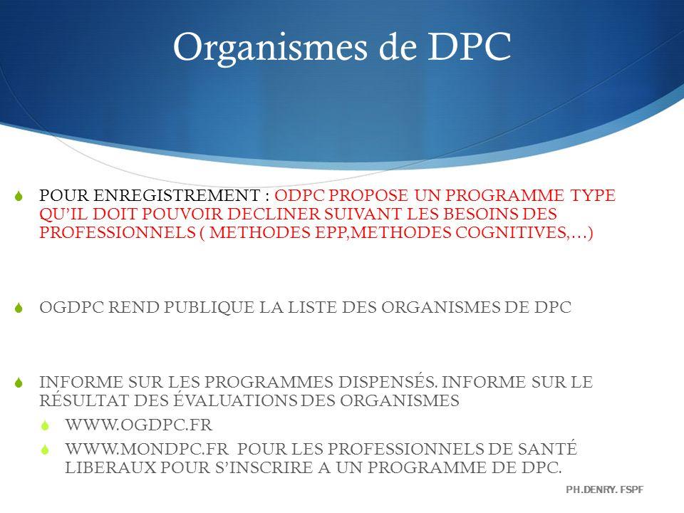Organismes de DPC