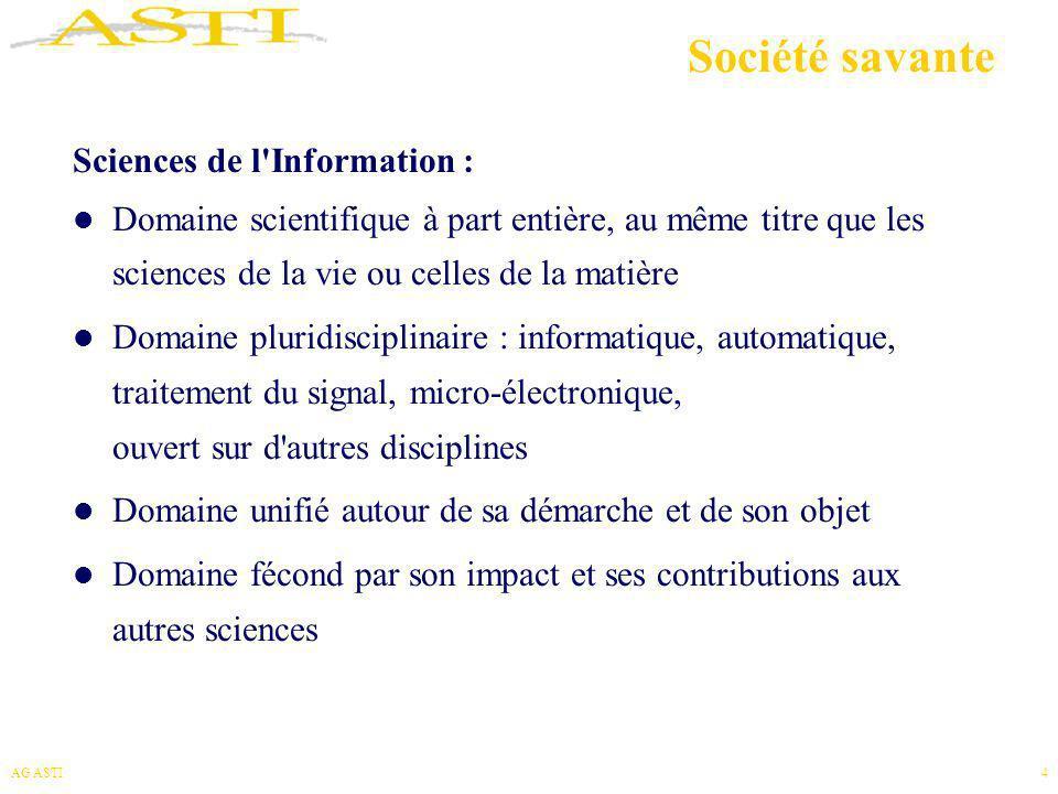 Société savante Sciences de l Information :