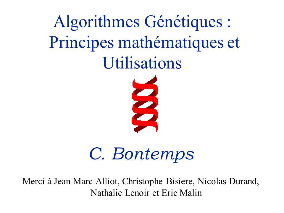 Algorithmes Génétiques : Principes mathématiques et Utilisations