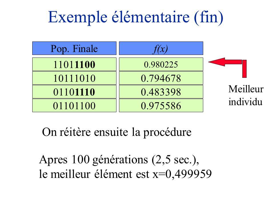 Exemple élémentaire (fin)
