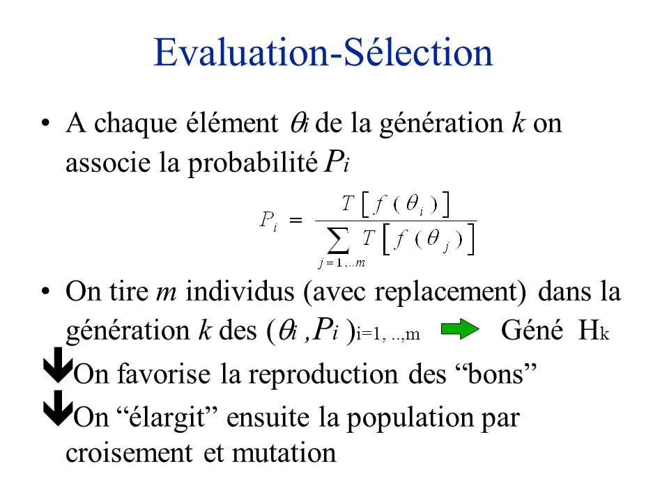 Evaluation-Sélection