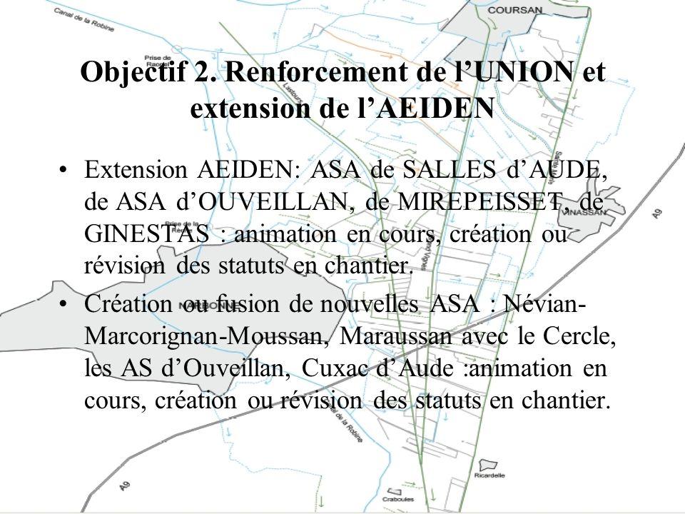 Objectif 2. Renforcement de l'UNION et extension de l'AEIDEN