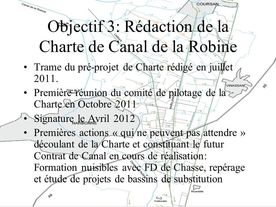Objectif 3: Rédaction de la Charte de Canal de la Robine