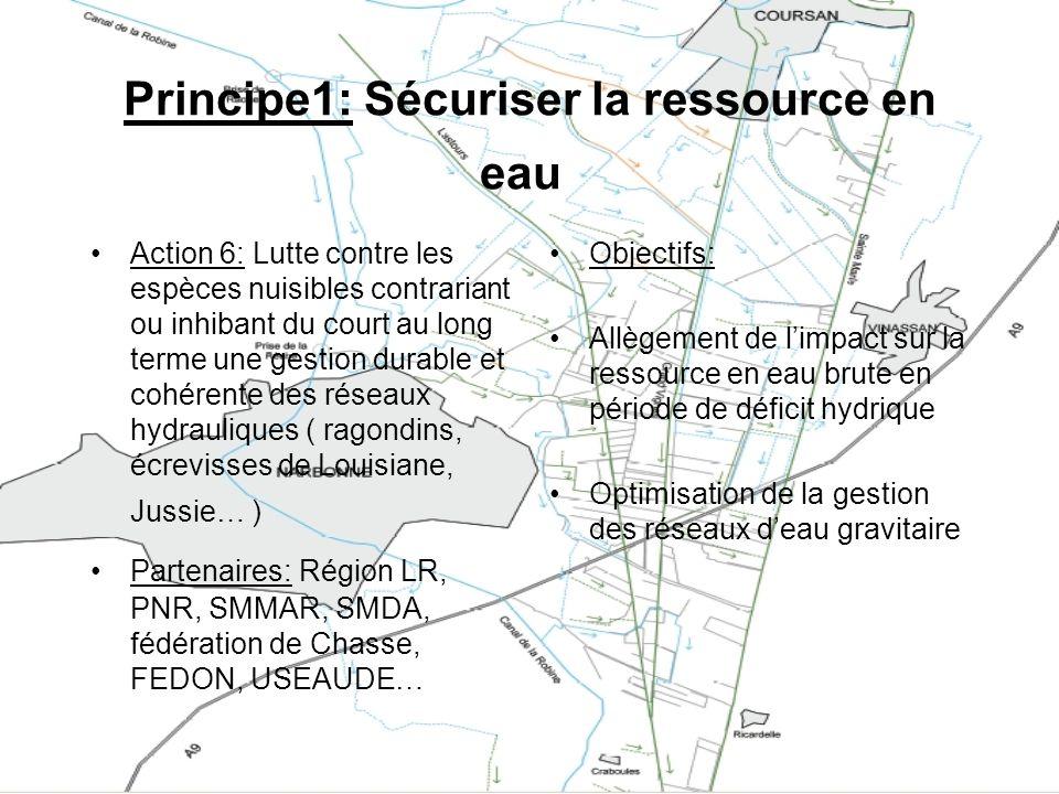 Principe1: Sécuriser la ressource en eau