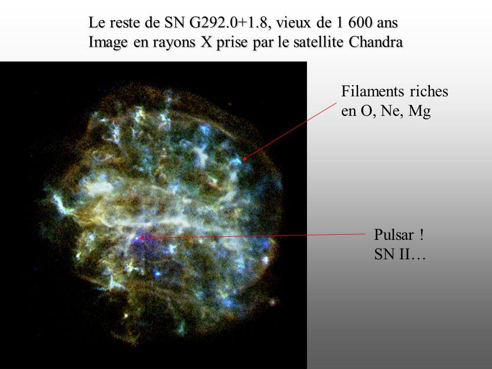 Le reste de SN G292.0+1.8, vieux de 1 600 ans
