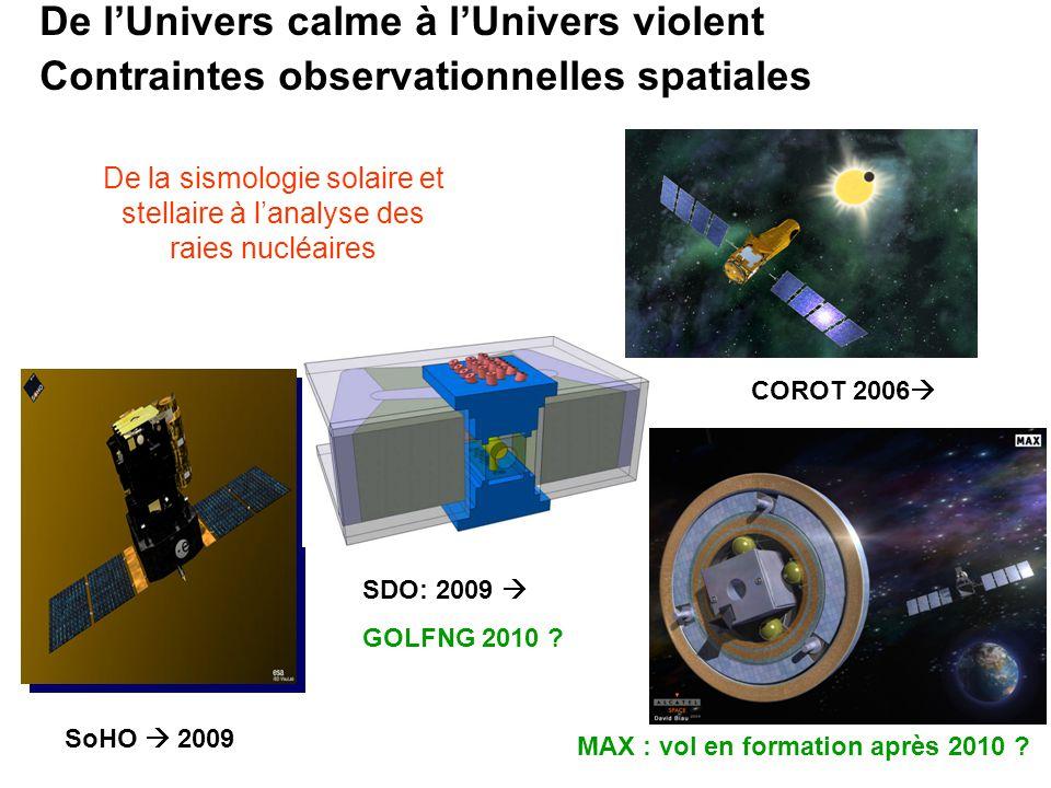 De la sismologie solaire et stellaire à l'analyse des raies nucléaires