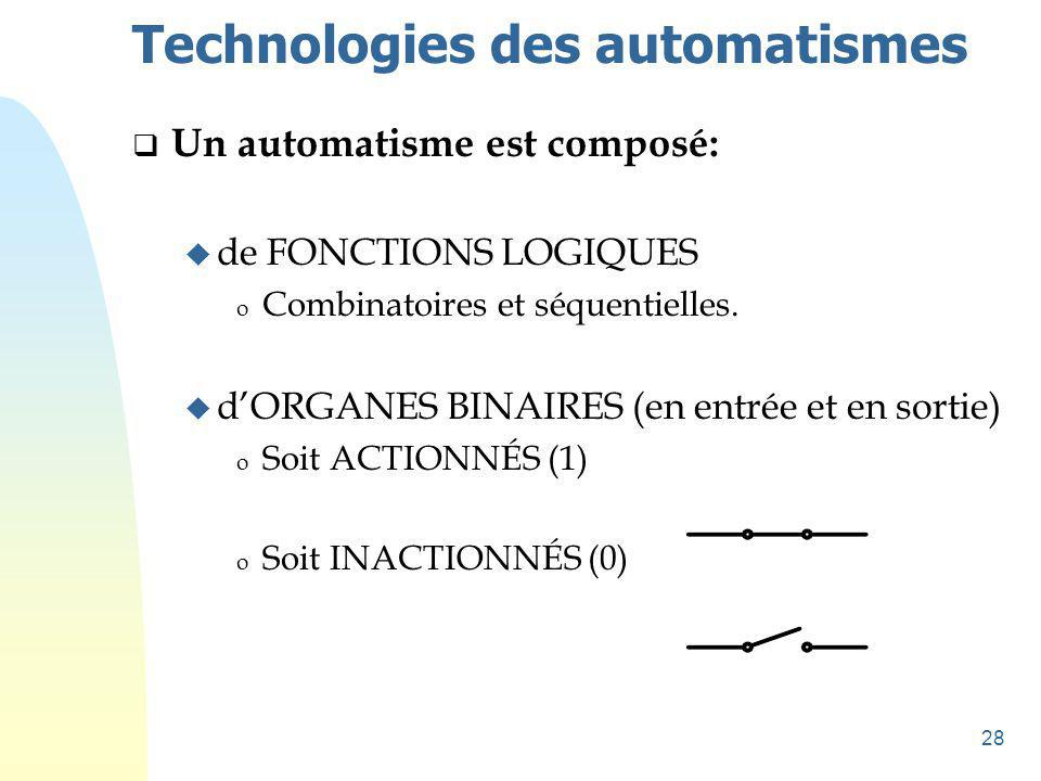 Technologies des automatismes