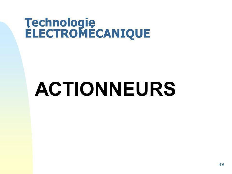 Technologie ÉLECTROMÉCANIQUE