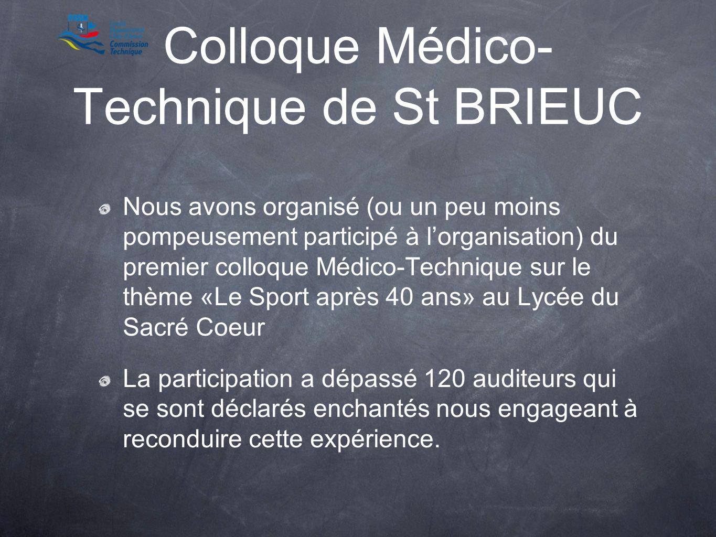 Colloque Médico-Technique de St BRIEUC