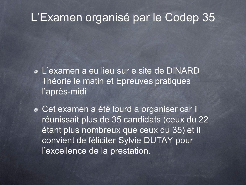 L'Examen organisé par le Codep 35