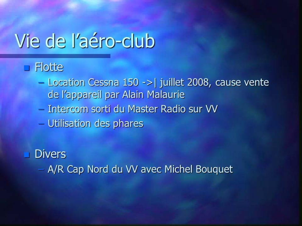 Vie de l'aéro-club Flotte Divers