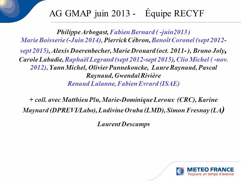 AG GMAP juin 2013 - Équipe RECYF