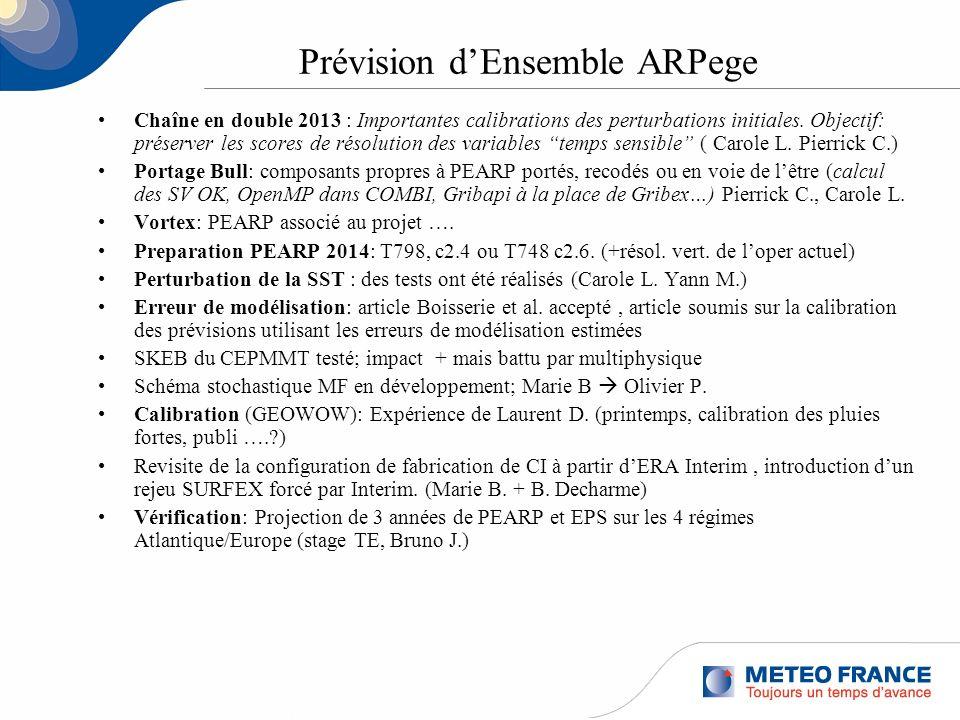 Prévision d'Ensemble ARPege
