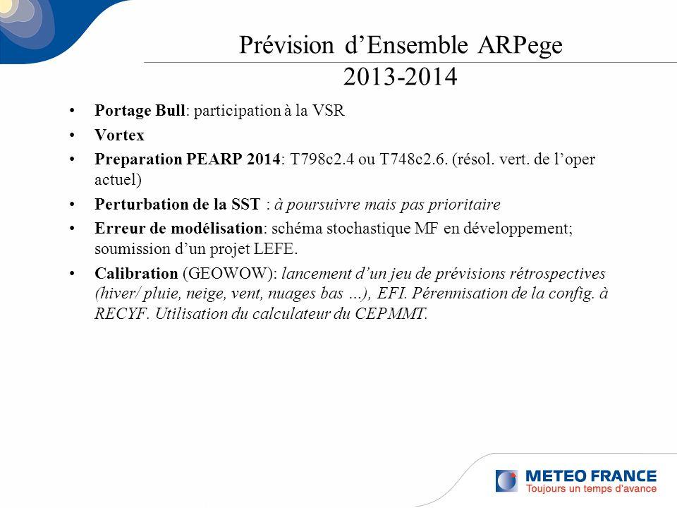 Prévision d'Ensemble ARPege 2013-2014