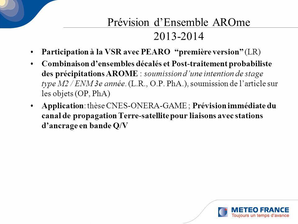 Prévision d'Ensemble AROme 2013-2014
