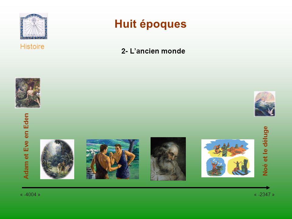 Huit époques Histoire 2- L'ancien monde Adam et Eve en Eden