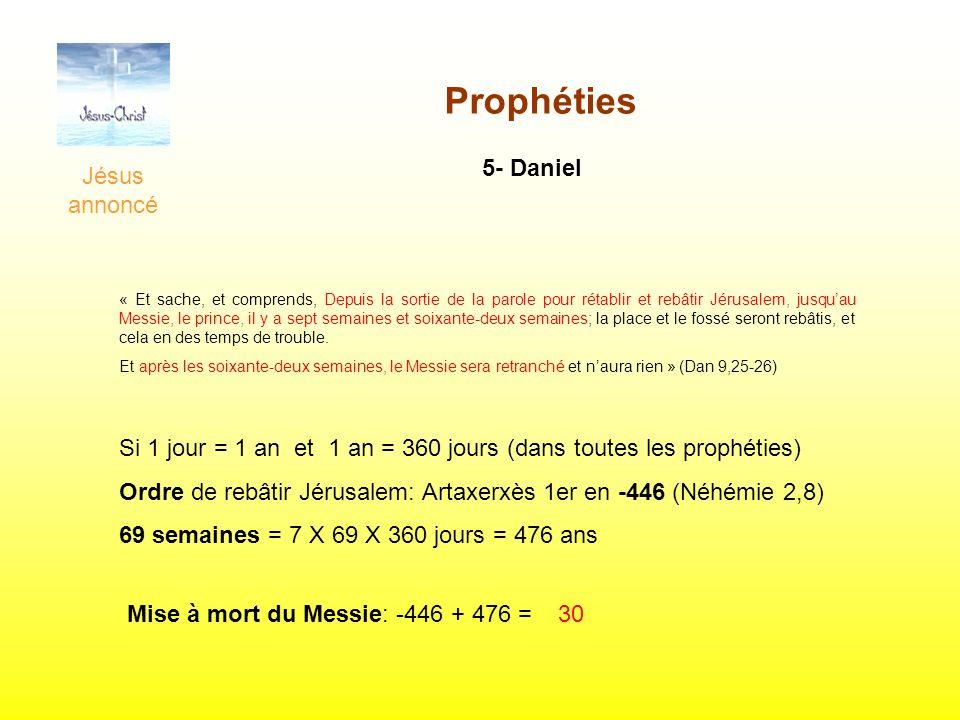Prophéties Jésus annoncé 5- Daniel