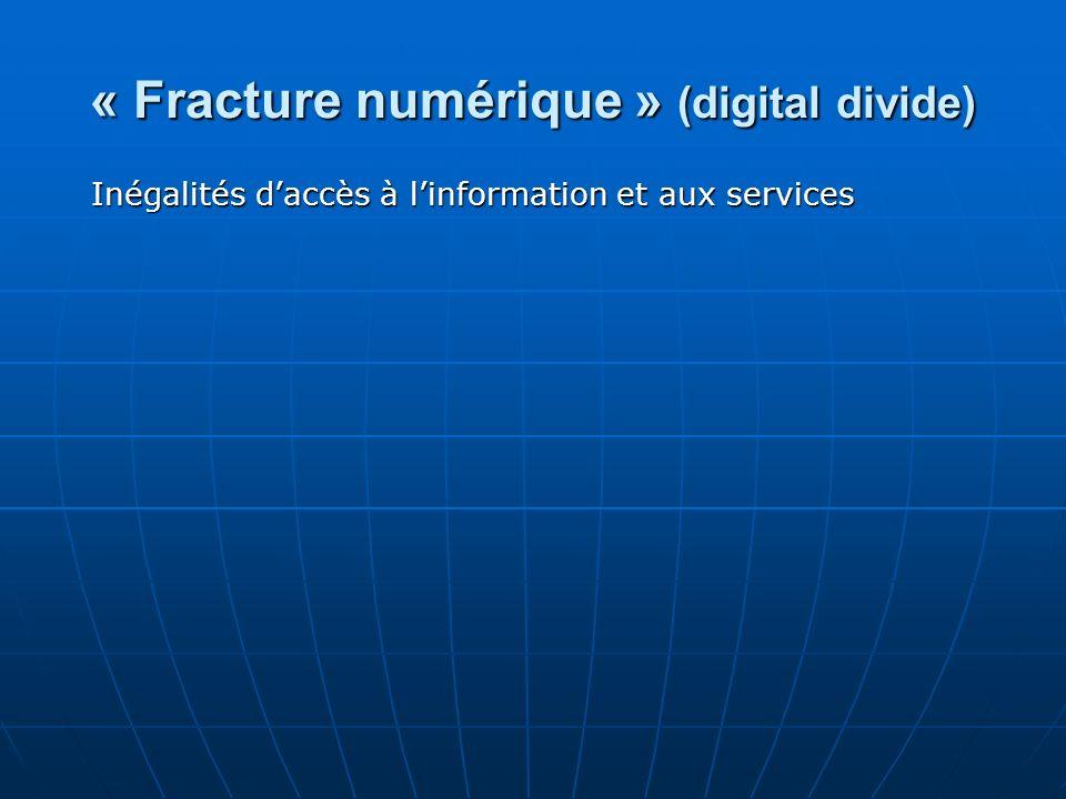 « Fracture numérique » (digital divide)
