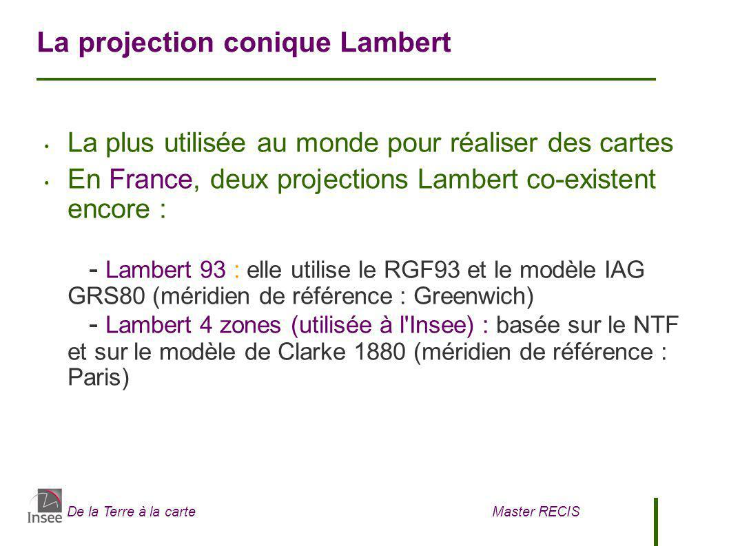 La projection conique Lambert