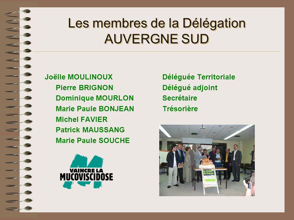 Les membres de la Délégation AUVERGNE SUD