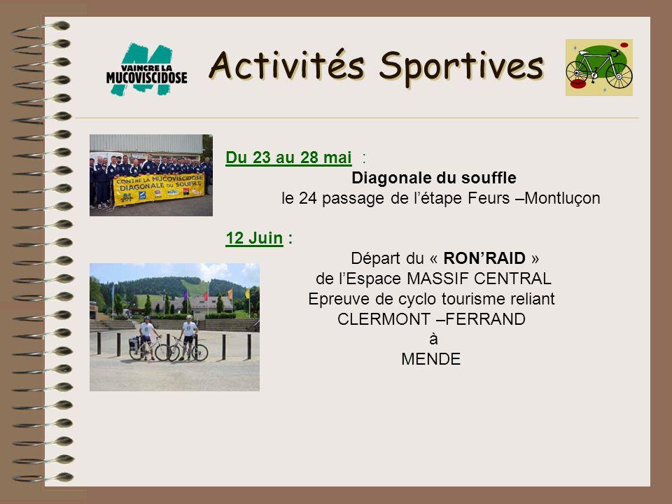 Activités Sportives Du 23 au 28 mai : Diagonale du souffle