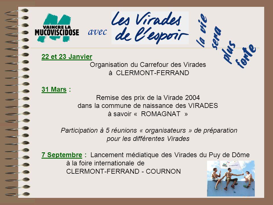avec 22 et 23 Janvier Organisation du Carrefour des Virades